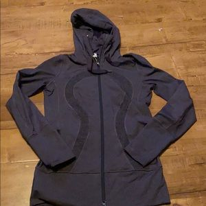 Lululemon Heathered Black Jacket